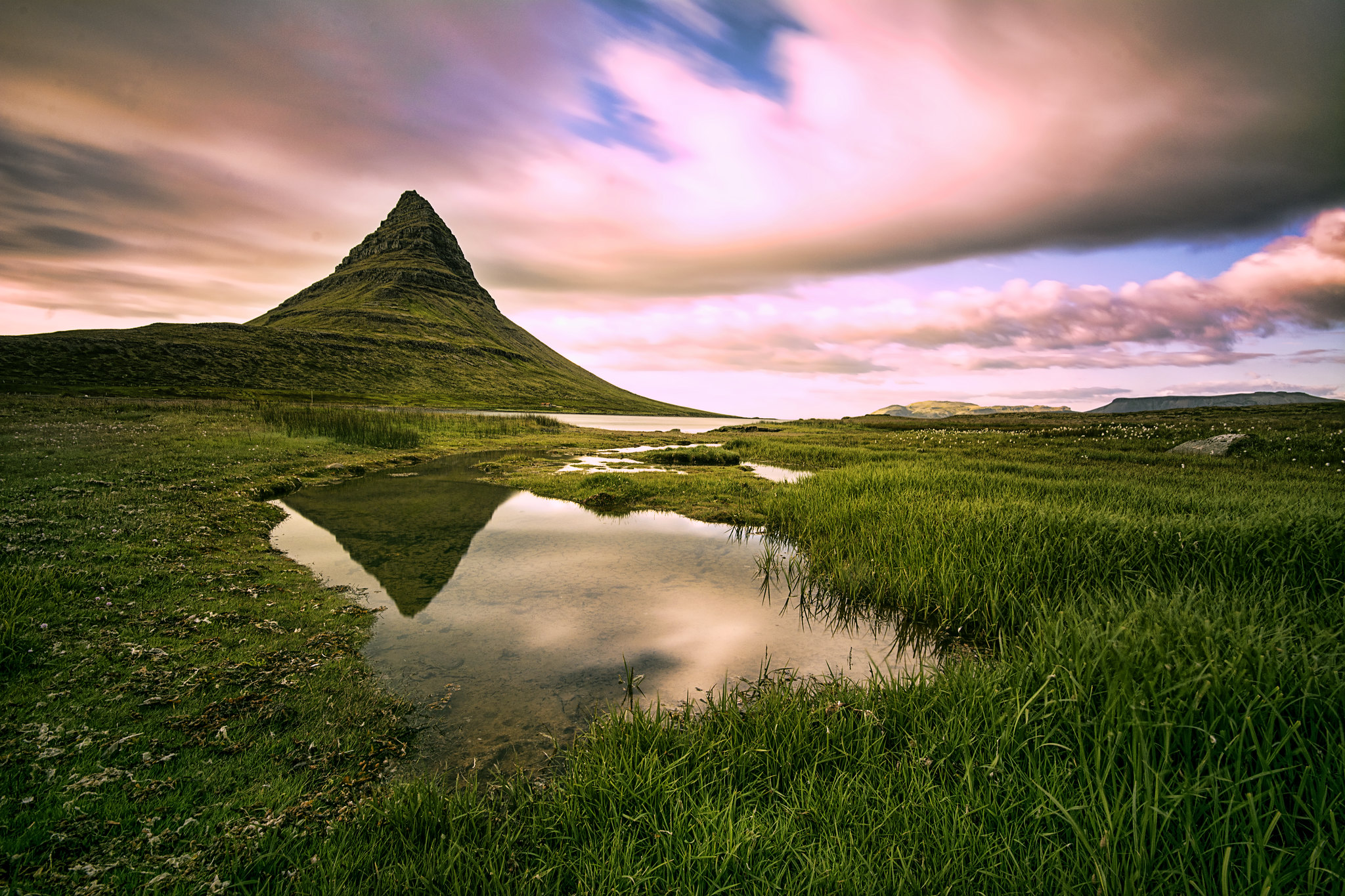 Reflection in Kirkjufell.