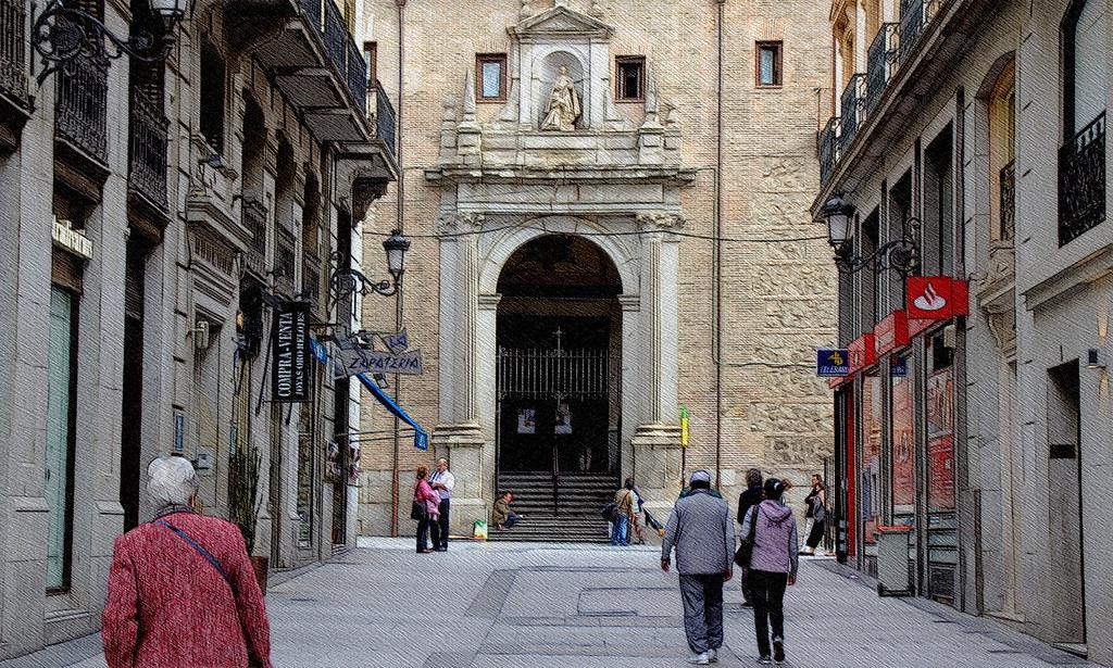 una iglesia en el centro de Madrid