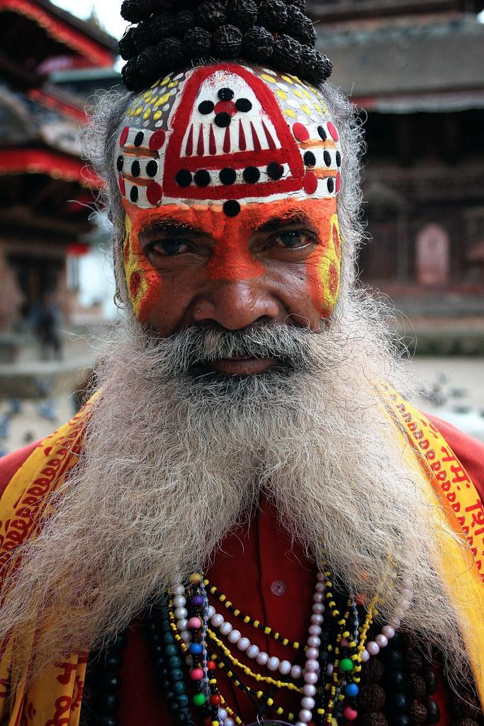Portrait Of A Nepali Sadhu