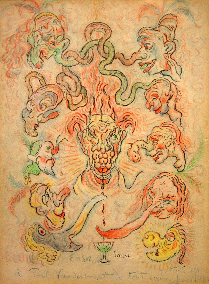 James Ensor - Burlesque false noses