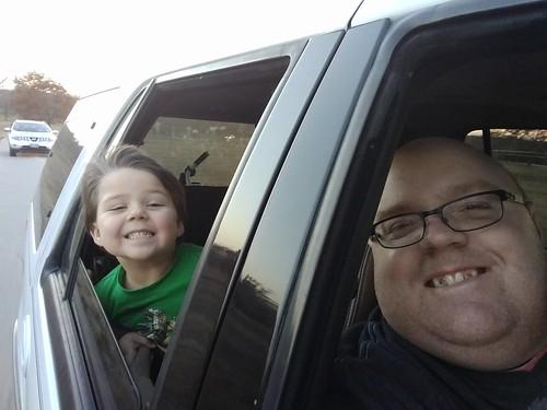 My nephew and me