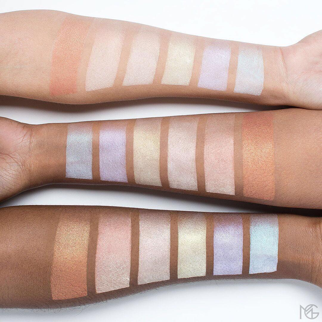 Makeup Geek Highlighter Swatches