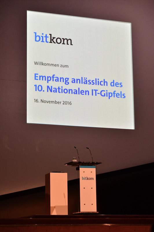 Empfang anlässlich des 10. Nationalen IT-Gipfels