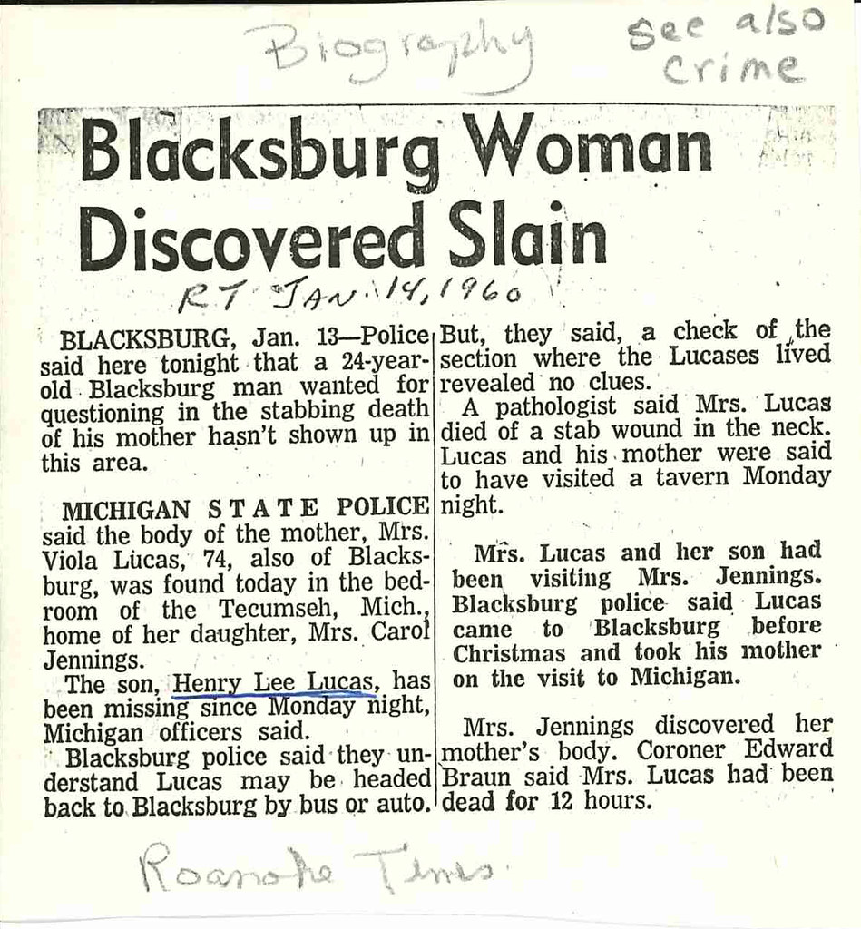 A photo of a newspaper clipping with the headline