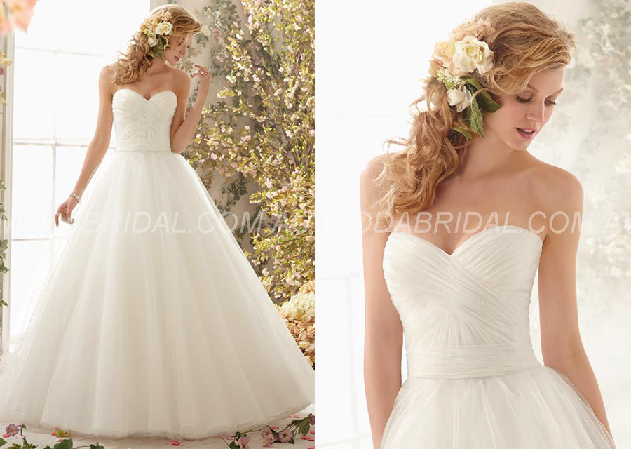 A-line Sweetheart Luxurious Court Draped Wedding Dress Townsville