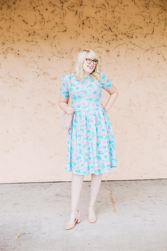 writes like a girl lularoe amelia ladybug dress3