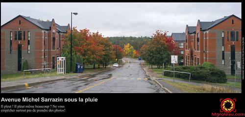 Avenue Michel Sarrazin sous la pluie