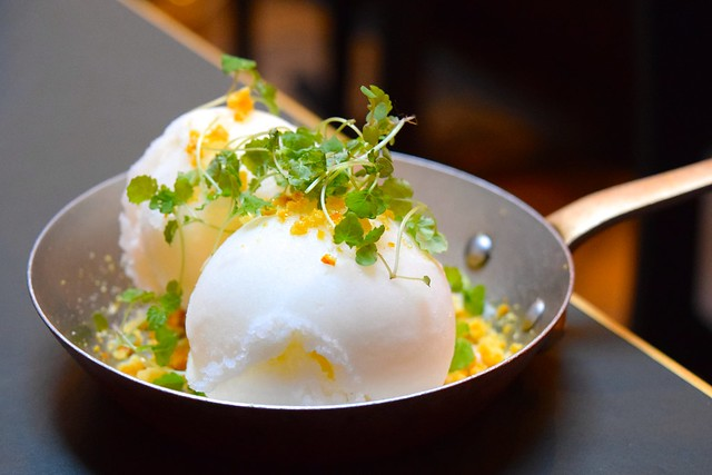 Fizzy Lemon & Bay Sorbet at The Palomar, Soho | www.rachelphipps.com @rachelphipps