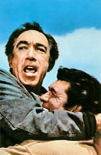 Anthony Quinn and  Claude Akins in Flap (1970)