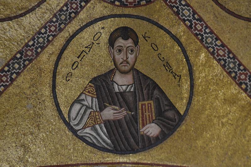 Detalle de los mosaicos del nártex de Hosios Loukás