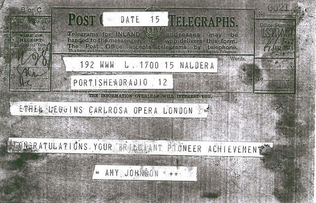 Ethel Leginska telegram