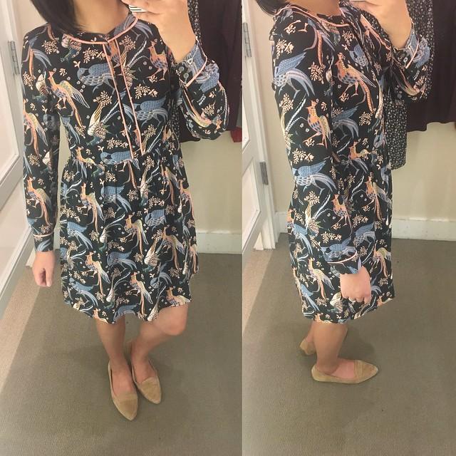 LOFT Snowbird Shirtdress, size 0P