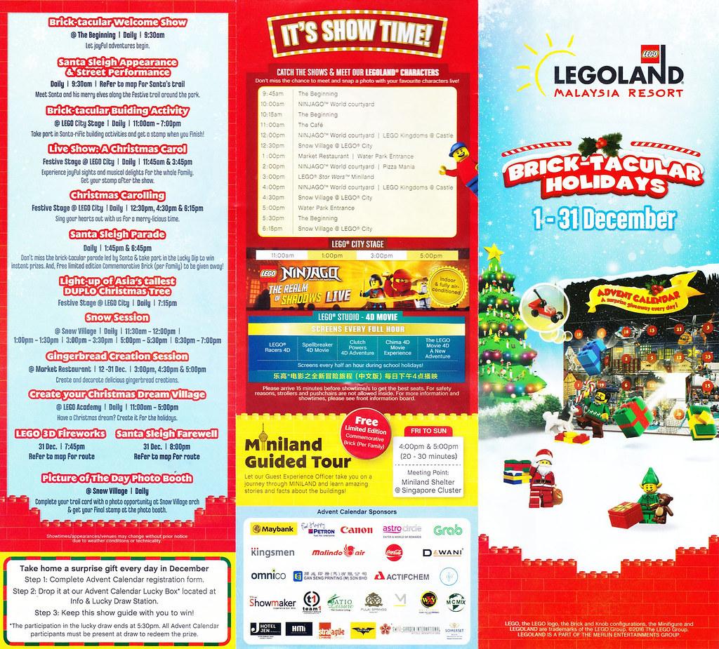Legoland Malaysia Brick-Tacular Brochure map