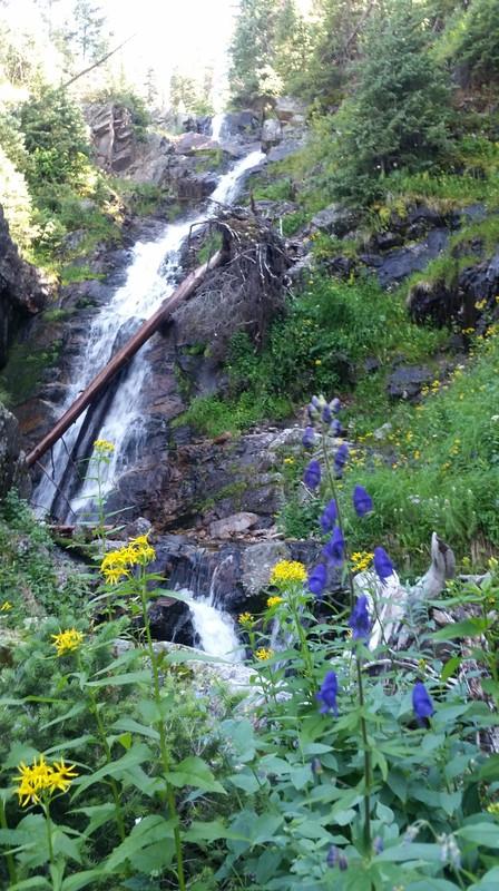 The second set of Waterfalls below Moon Lake