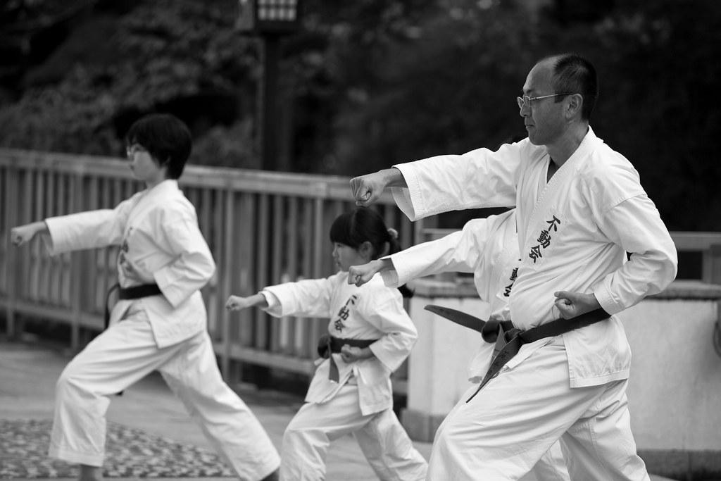 Practicing Karate, Tokyo