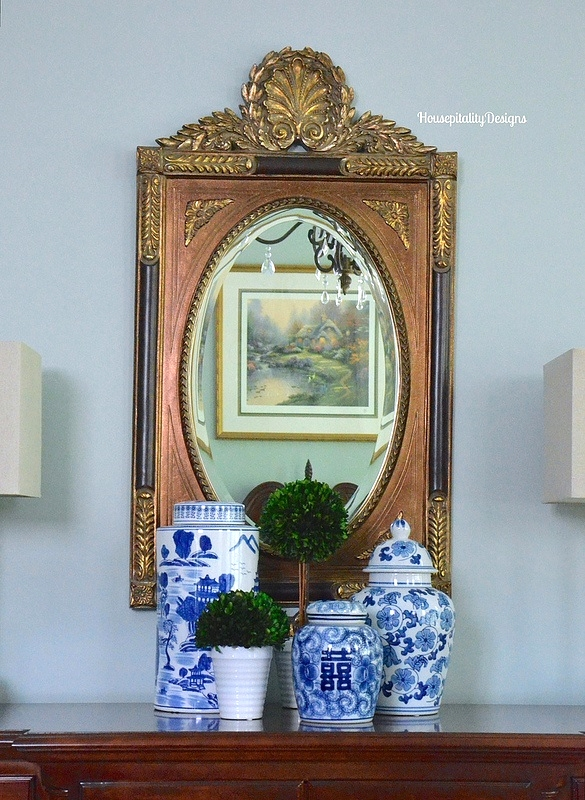 Mirror - Blue and White - Housepitality Designs