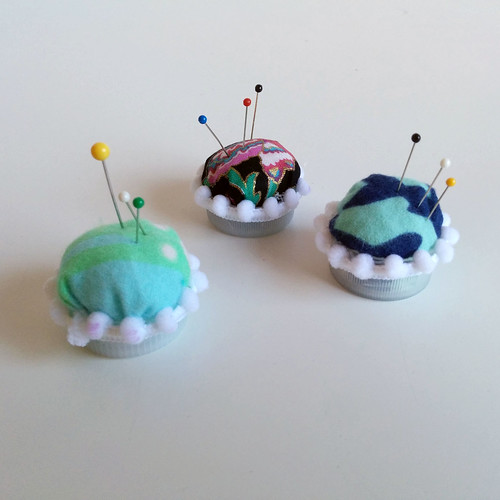 Tiny Bottle Cap Pin Cushions Someday Sewing