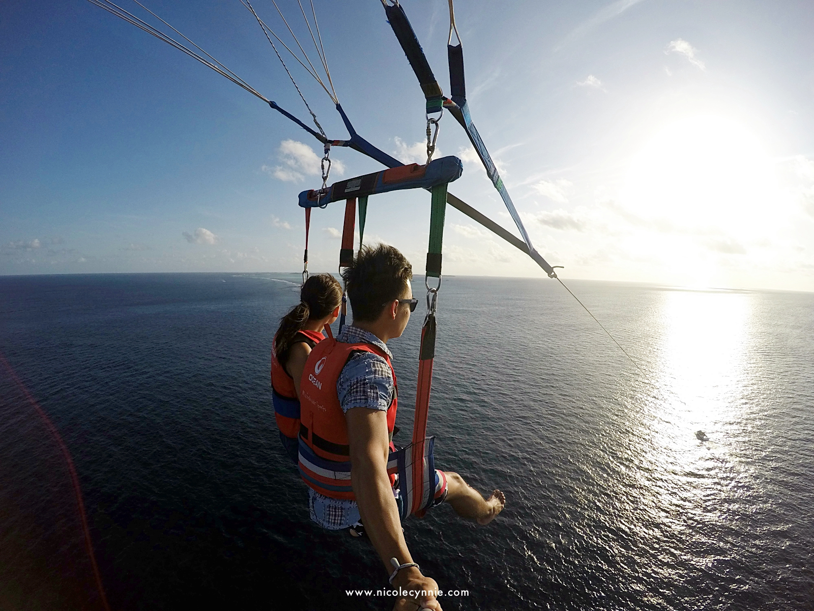 Nicole Cynnie | Parasailing @ Maafushi Island 3