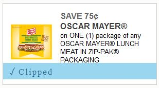 Oscar Mayer Wallet Pack Lunchmeat coupon