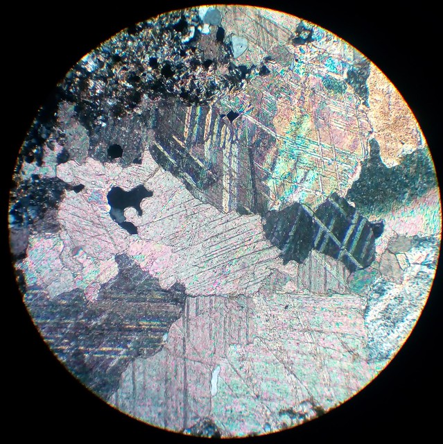 Carbonate (30 µm thin section, XPL)