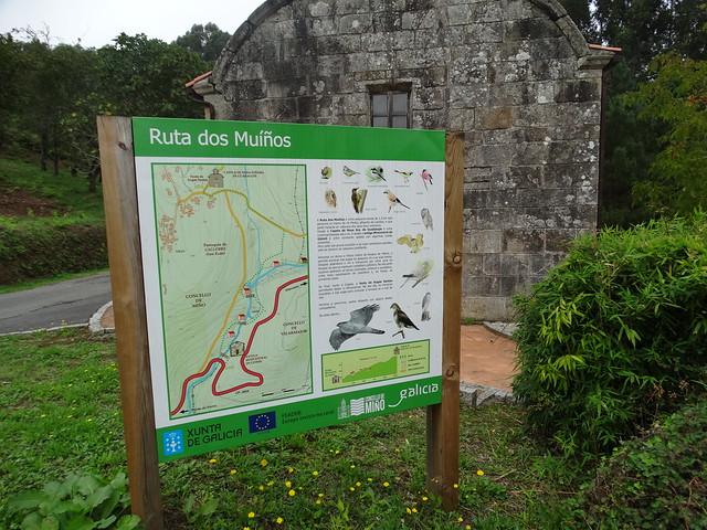 Panel Ruta dos Muíños do río Medio - Miño