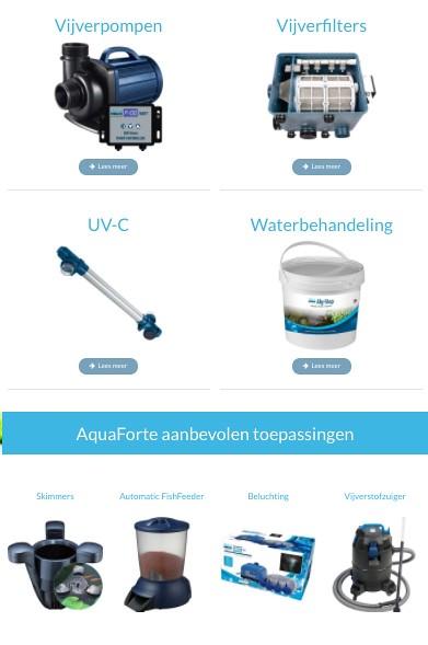 Overzicht producten Aqua Forte
