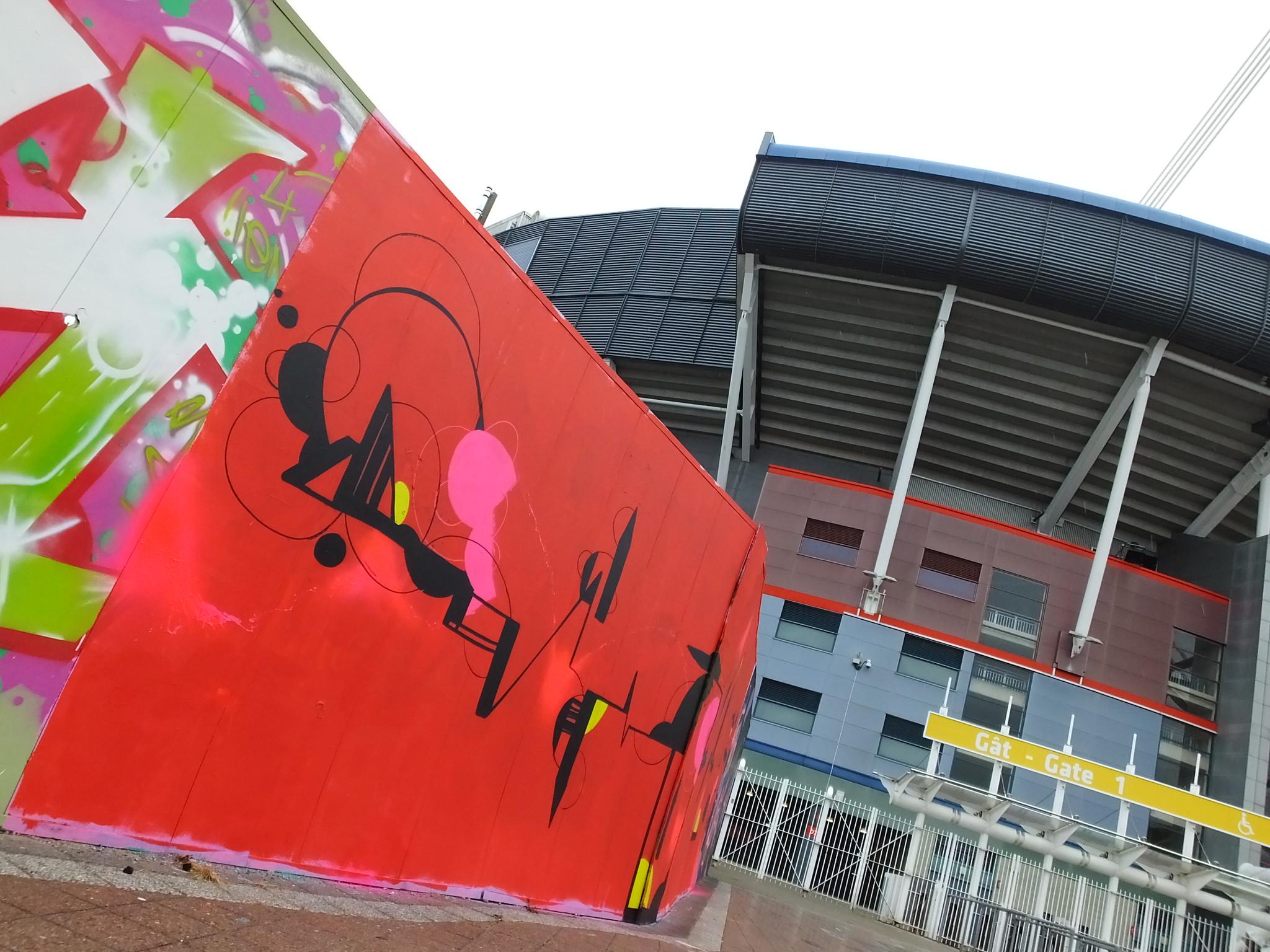 Millennium Walkway art, Cardiff