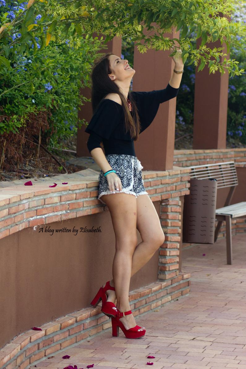 tacones marypaz heelsandroses top shorts bershka (6)