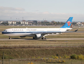 China Southern Airlines. First Flight For The Airbus A330-323.