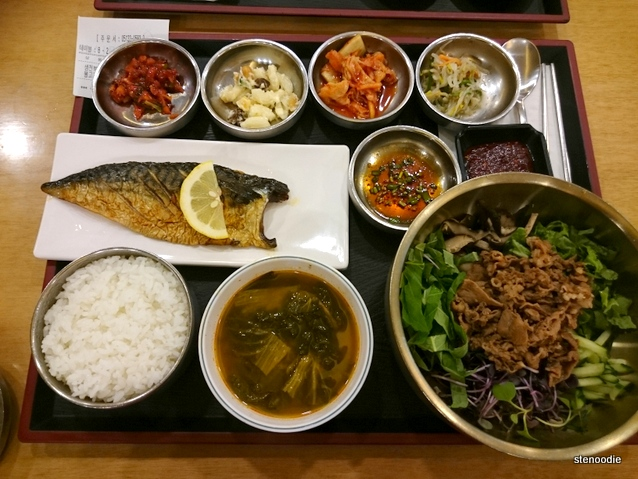 Grilled Low Salted Mackerel & Bulgogi Bibimbap