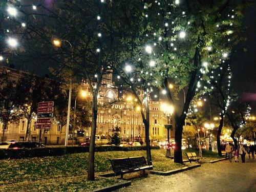 Paseo de Recoletos, Navidad. Madrid