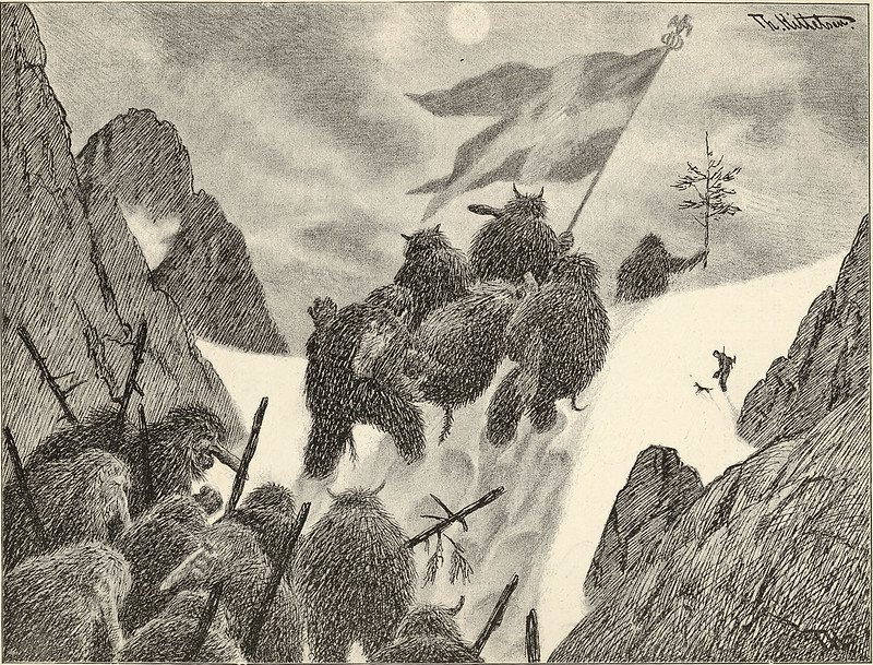 Theodor Kittelsen - At Night They Carried the Dead Away, 1901