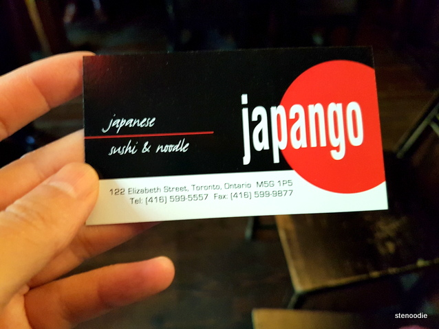 Japango business card