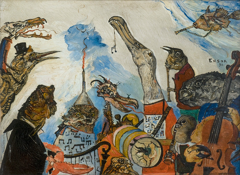 James Ensor - Terrible Musicians, 1891