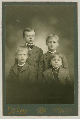 Cabinet Card four boys