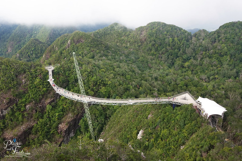 langkawi skybridge top view with mountains