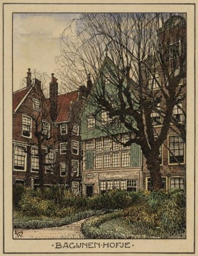 Illustration du Beguinage à Amsterdam.