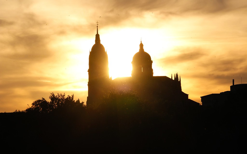 puesta de sol catedral salamanca