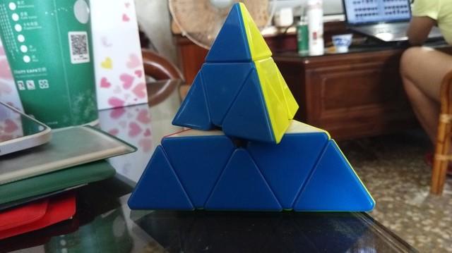 魔方格磁力金字塔-鈴塔逆容錯