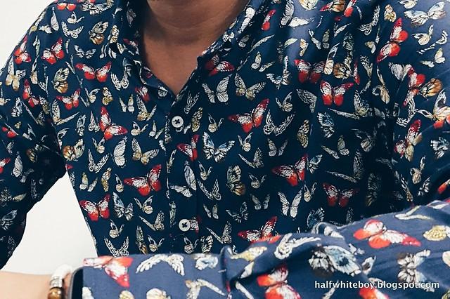 halfwhiteboy butterflies print shirt 01