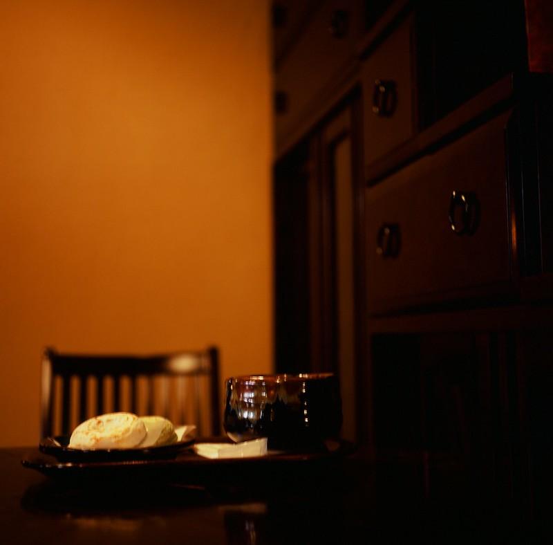 梅ヶ枝餅と抹茶|かさの家|茶房