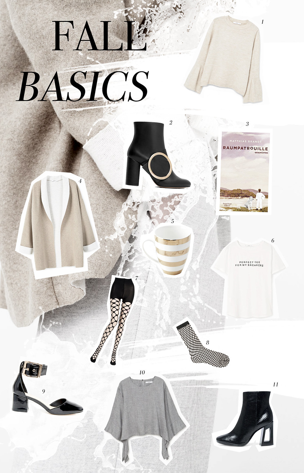 fall basics collage style inspiration shopping magazine look mag style cut out minimal fashionblogger germanblogger cats & dogs modeblog ricarda schernus fashionblogger mango new fall basics trend fishnet tights grey beige nude book home love cozy 1