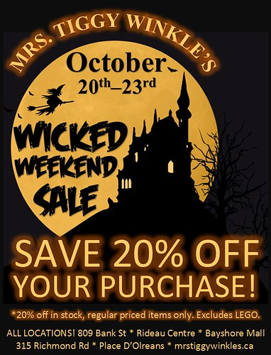 wicked sale at Mrs. Tiggy Winkle's!
