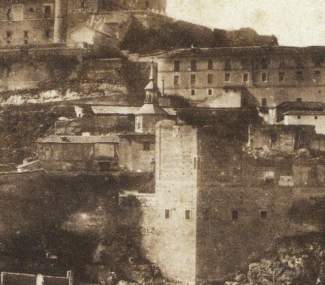 Convento del Carmen Calzado en 1856. Detalle de una fotografía de Joseph Carpentier.