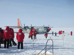 Arriving at South Pole Station