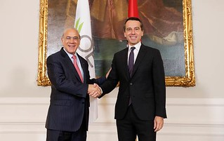 Angel Gurría, Secretary-General of the OECD, official visit to Austria