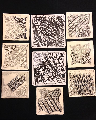 Introduction to Zentangle class tiles