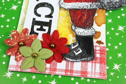 Meihsia Liu Simply Paper Crafts Christmas Gift Tag Simon Says Stamp Monday Challenge Tim Holtz 4