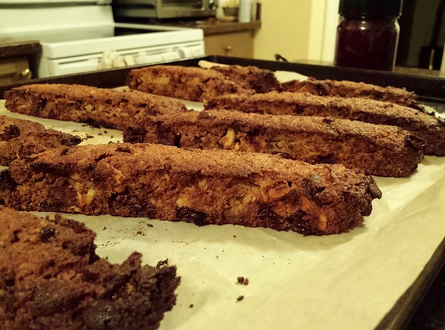 Cranberry, Chocolate, Caramel and Almond Biscotti