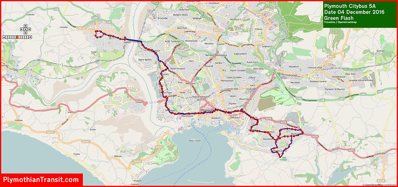 2016 12 04 Plymouth Citybus Route-005A Map.jpg